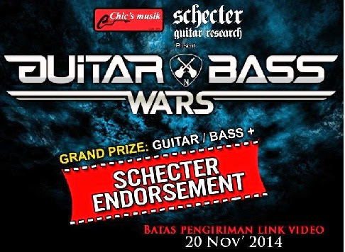 GUITAR & BASS WARS 2014, Kompetisi Gitar Dan Bass Berhadiah Endorsement Schecter!