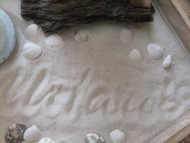 Sommerdeko-Meer und Sand