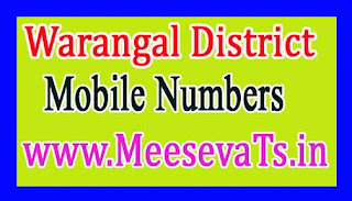 Palakurthi Mandal MPTC Mobile Numbers List Warangal District in Telangana State