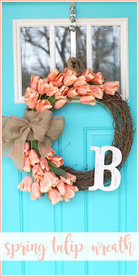 Sugar Bee Crafts - Spring Tulip Wreath