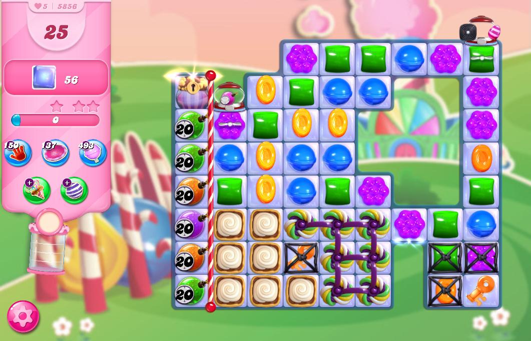 Candy Crush Saga level 5856