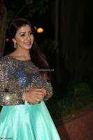 Nikki Galrani in Green Skirt  Top at Marakathamani music launch ~  Exclusive (62).JPG