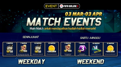 Match Event Fifa Online 3 (FO3) Indonesia Maret 2016