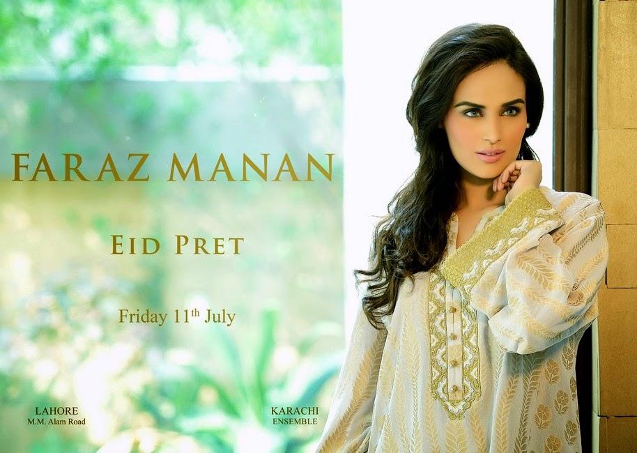 ddbff22899 Faraz Manan Eid Pret 2014-2015 | Designer Eid Dress Collection ...