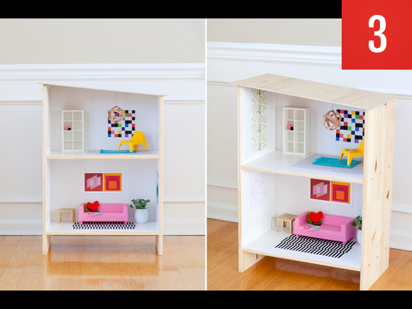 a Rast nightstand to doll house