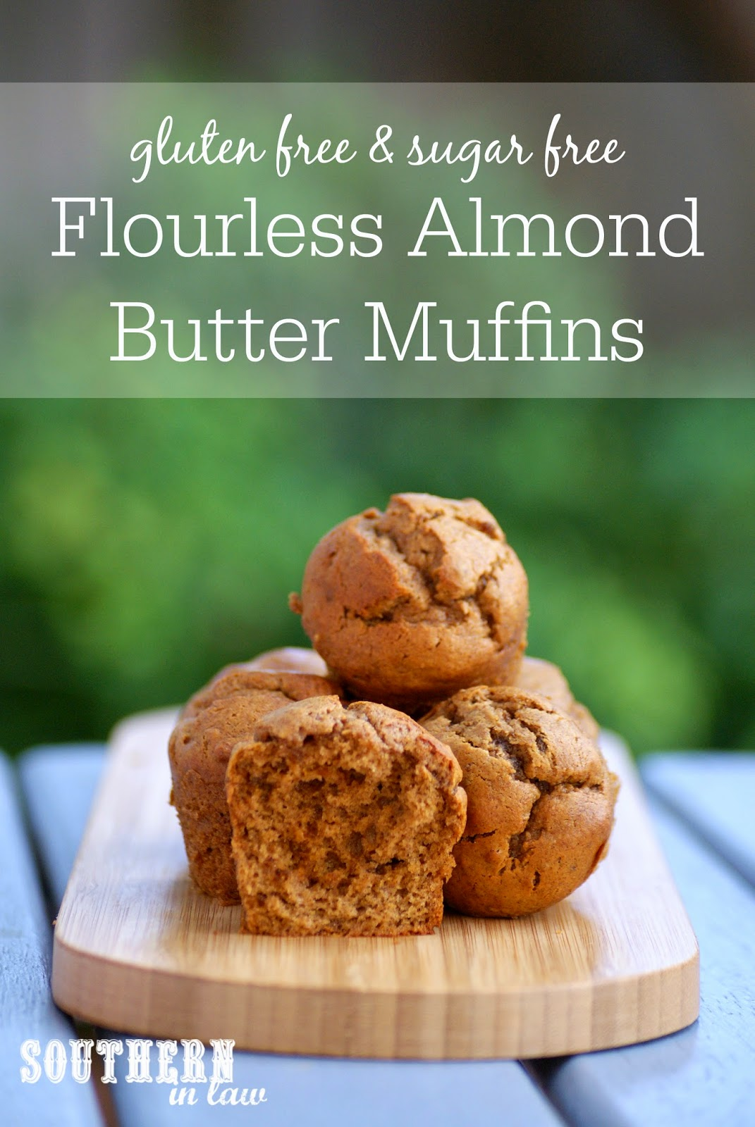 Flourless Almond Butter Muffins Recipe - low carb, gluten free, sugar free, clean eating friendly, grain free, paleo