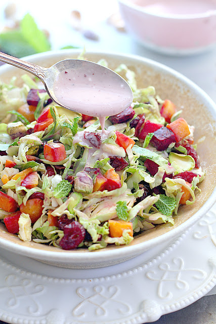 brussels sprouts beet butternut squash salad recipe