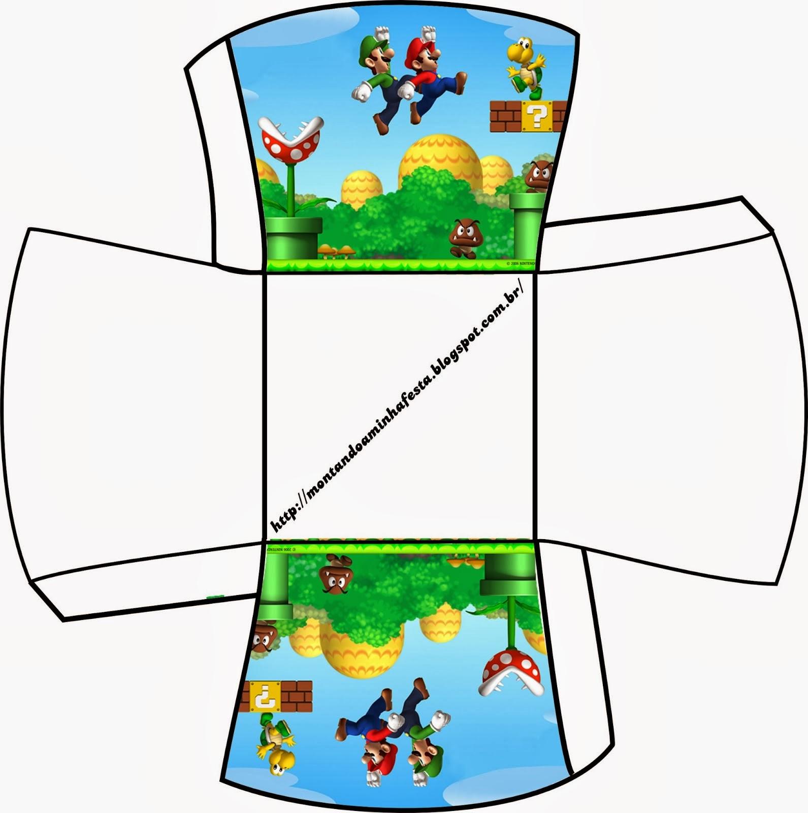 Cajas de Super Mario Bros para Imprimir Gratis.   Ideas y material ...