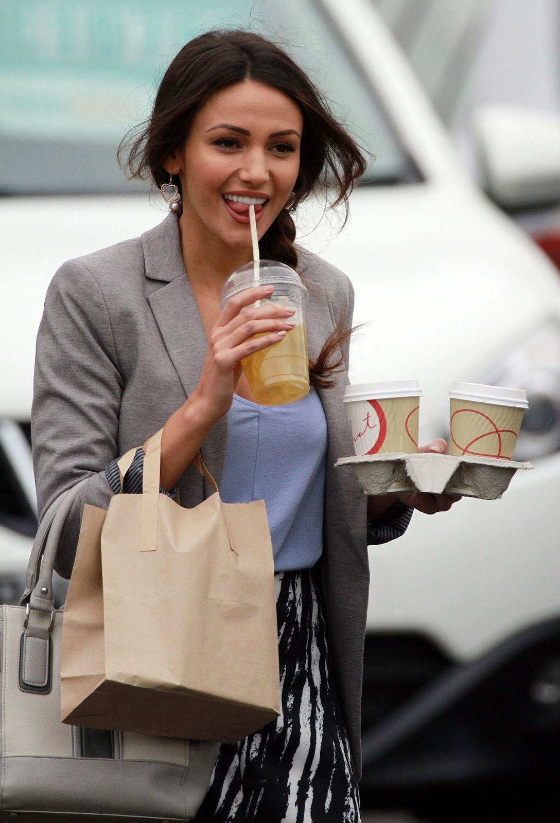 Michelle Keegan On The Set Of Ordinary