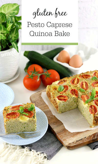 Easy Quinoa Pesto Caprese Quinoa Bake - gluten free, low fat, healhy, clean eating recipe, meal prep recipes, quinoa casserole, high protein.jpg