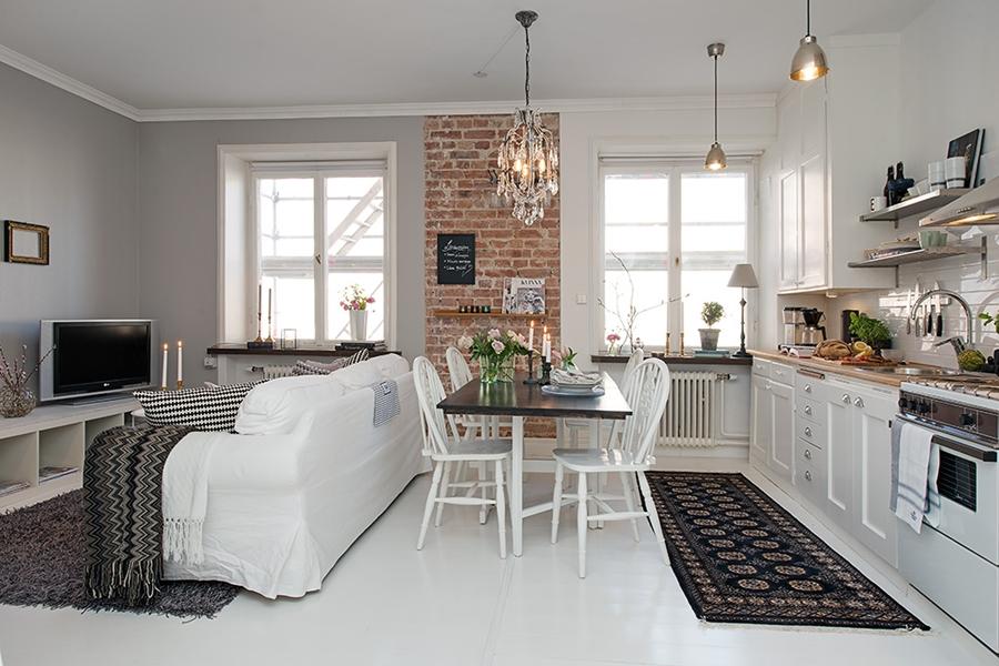 Mały apartament o powierzchni 36m² - wystrój wnętrz, wnętrza, urządzanie mieszkania, dom, home decor, dekoracje, aranżacje, styl skandynawski, scandinavian style, białe wnętrza, white home, małe wnętrza, small apartment