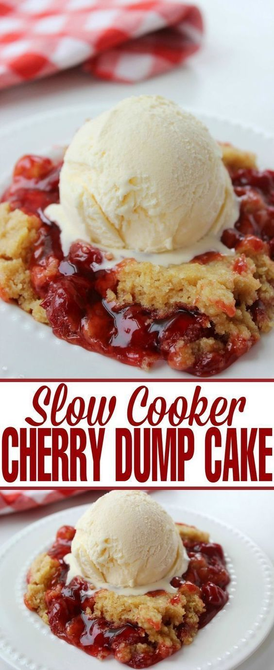 Slow Cooker Cherry Dump Cake Recipes