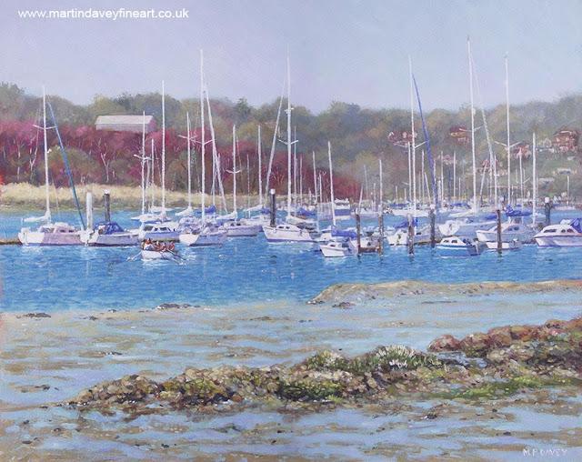 Hampshire boat marina Martin Davey artist