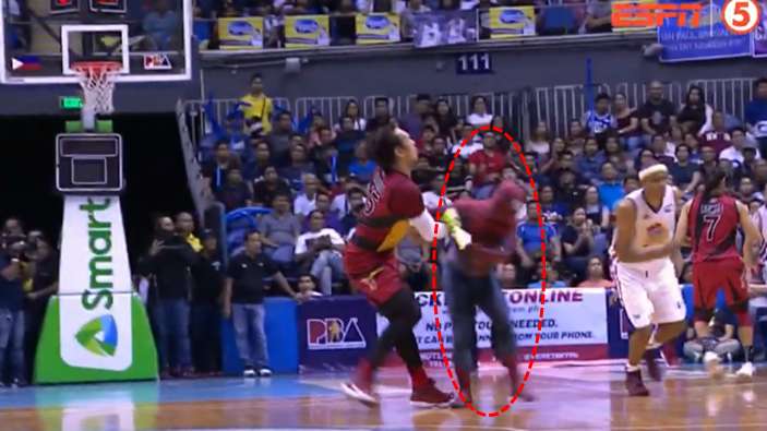 'Spiderman' crashes PBA Finals, hits Fajardo