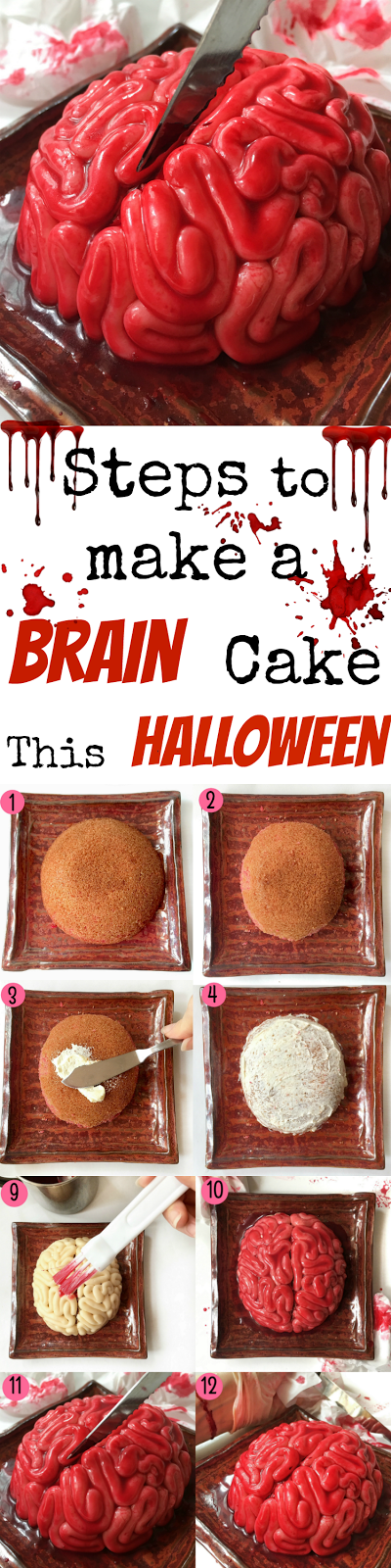 Halloween Brain cake pictures for Pininterest