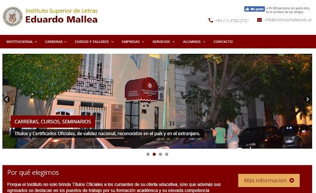 Pagina web Instituto Mallea