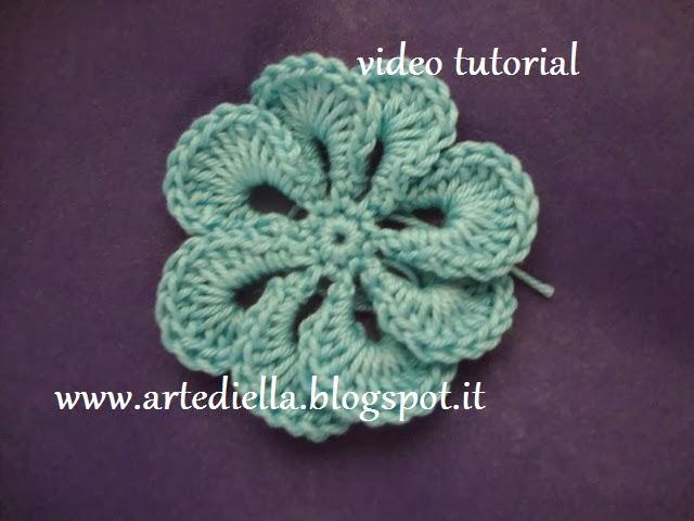 abbastanza Le Fragole di Stoffa: fiore all'uncinetto con spiegazione, crochet  QD03