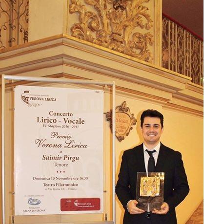 Saimir Pirgu wins Verona Lirica Award 2016