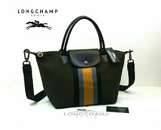 Tas Wanita Longchamp Kanvas Denim Medium 501tr
