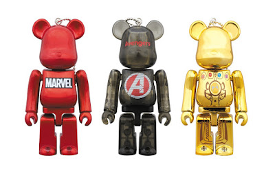 HappyKuji Exclusive Avengers: Endgame 100% Be@rbrick Keychain Series by Medicom Toy