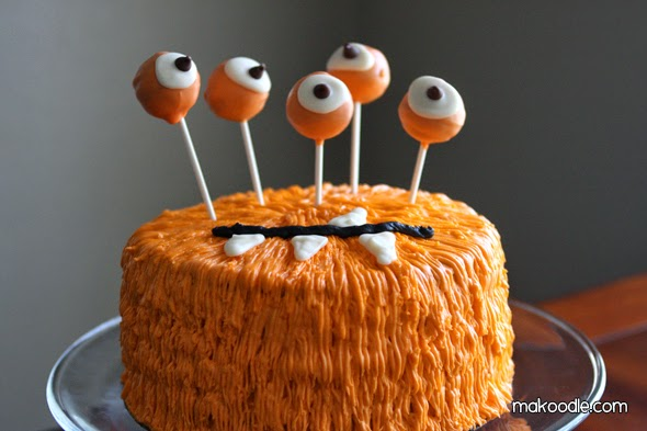 Monster cake - Halloween cake - cake - holiday cake - birthday cake