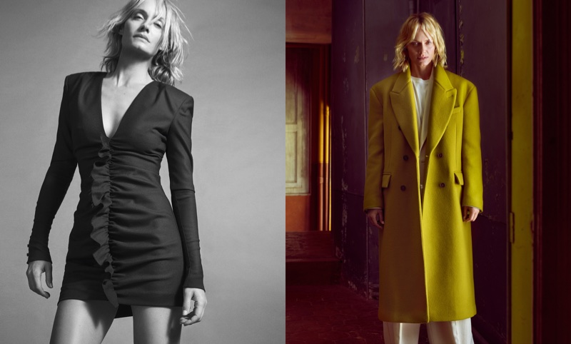 Amber Valletta fronts Mango's fall-winter 2017 campaign
