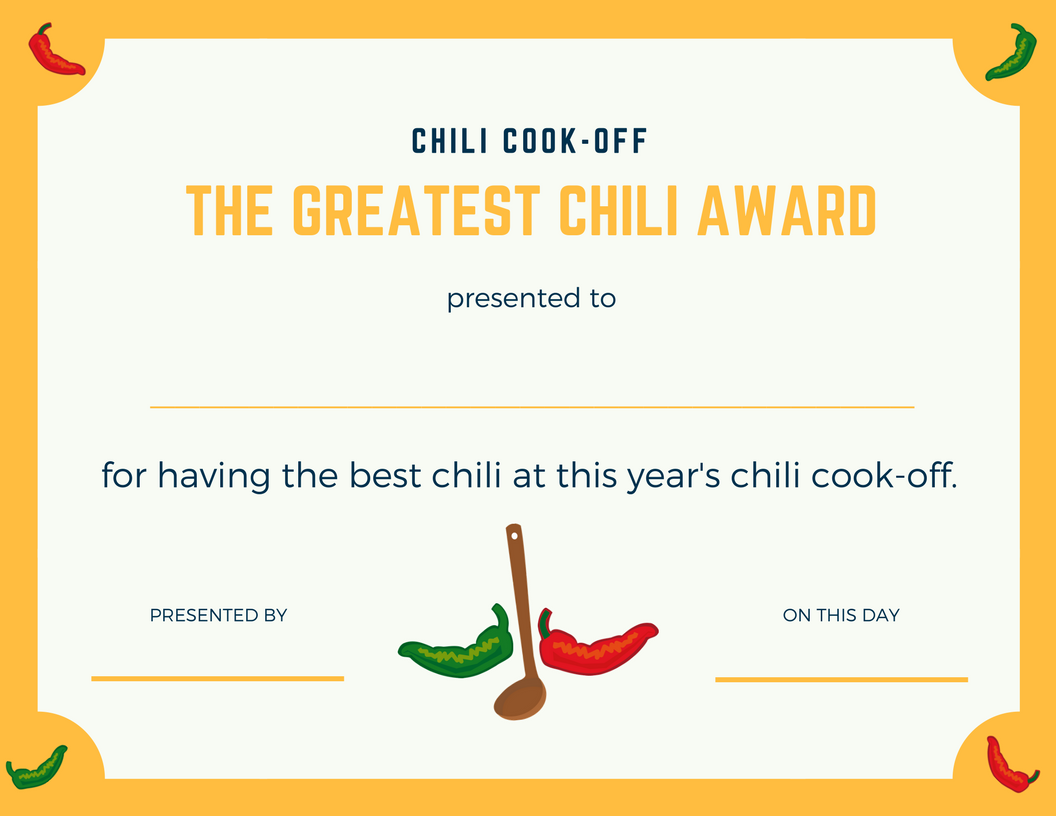 chili cook off award certificate template chili cook off insider another free invite scorecard