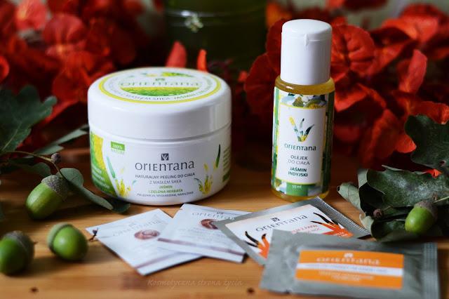 Orientana peeling do ciała jaśmin i zielona herbata, olejek do ciała jaśmin