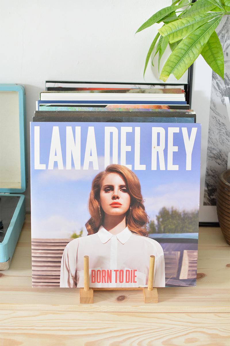 diy record display, magazine rack, vinyl holder