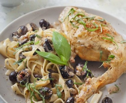 Rabbit with olives