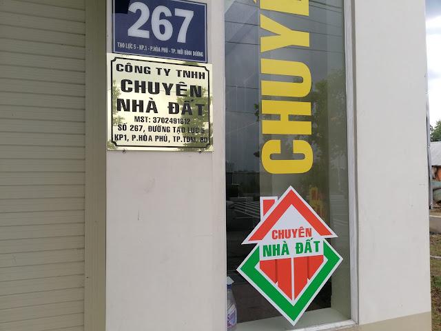 Trụ sở: Số 267 đường Tạo Lực 5, P.Hoà Phú, TP.Thủ Dầu Một, Bình Dương (TPmới Bình Dương)