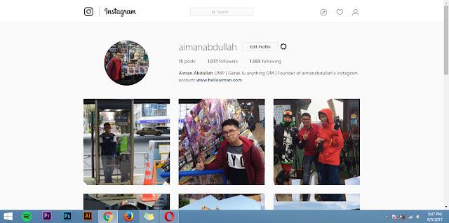 upload gambar di instagram melalui laptop