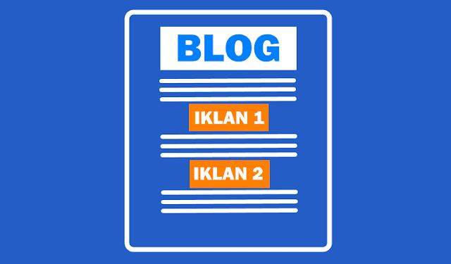 Cara Memasang 2 Iklan Tengah Postingan