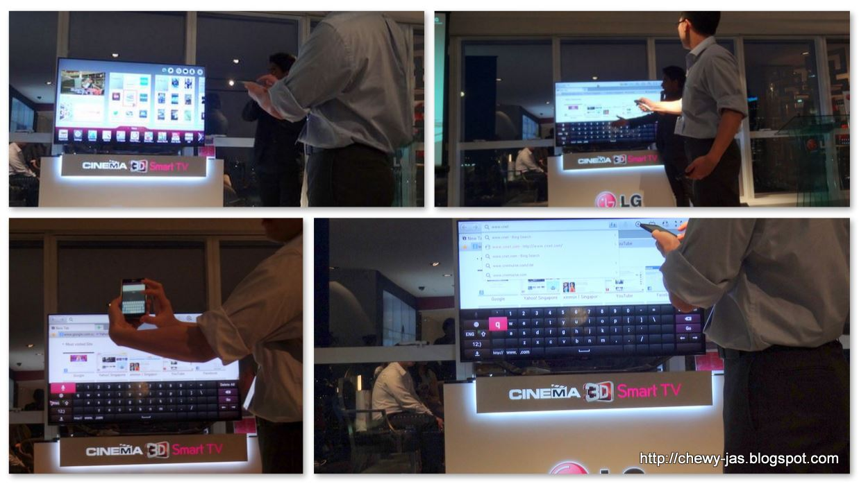 ChewyJas: Preview of LG 2013 Cinema 3D Smart TV Showcase