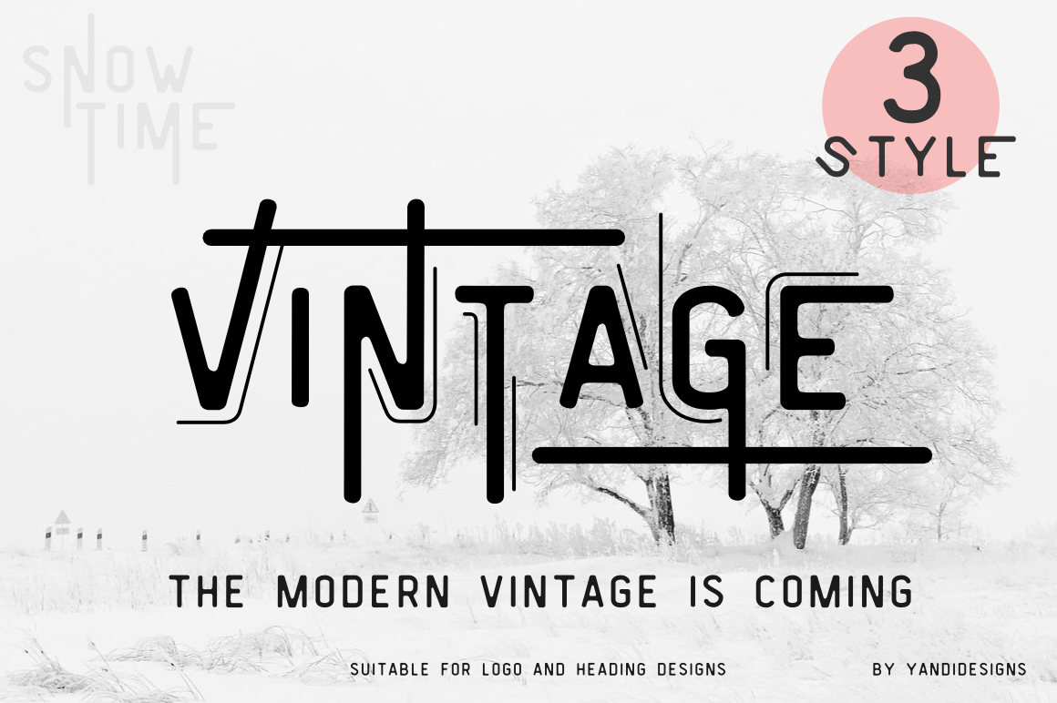 Combine Modern And Vintage Style Suitable For Logo Designs Any Project This Is Actually My Favourite Fonts