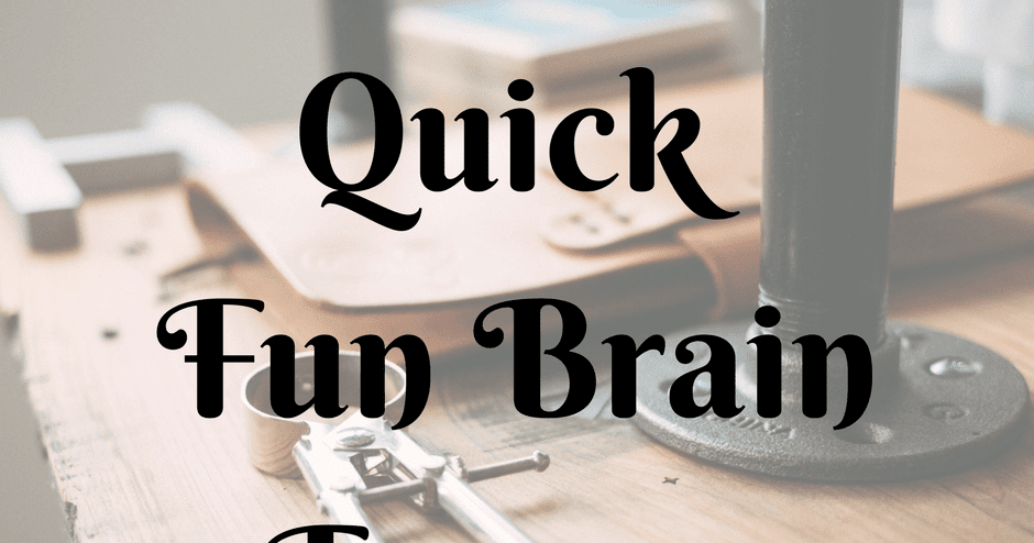 quick fun brain teasers with answers