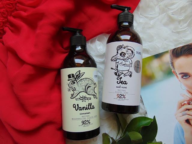 Yope Mydło do rąk Vanilla & Cinnamon oraz Tea & Mint