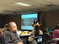 Author presenting at a workshop for parents on educational technology