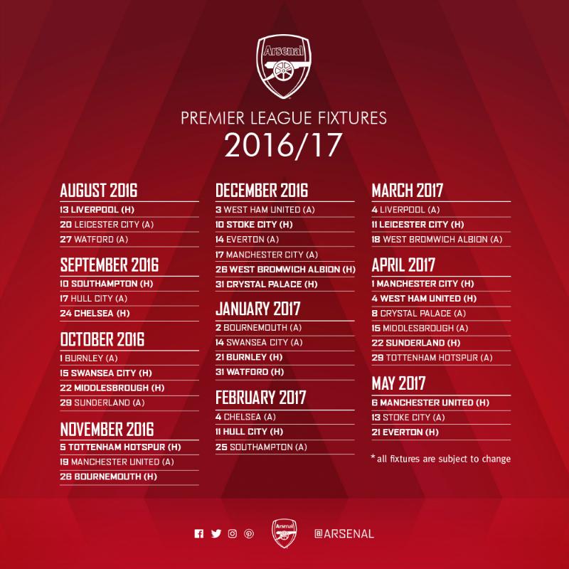 Calendario Partite Premier League.Clock End Italia Giugno 2016