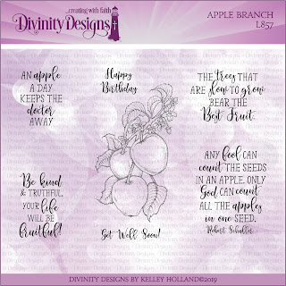 Divinity Designs Stamp Set: Apple Branch