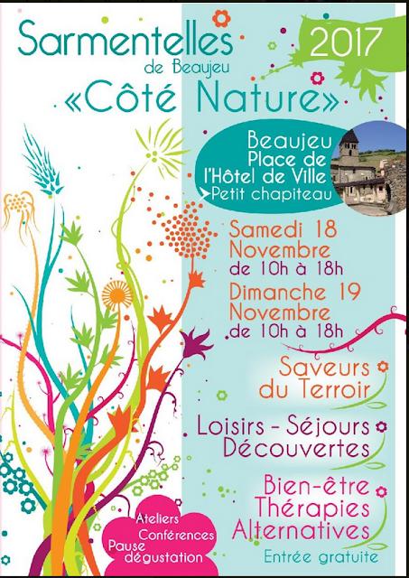 Salon Côté Nature, Beaujeu, Beaujolais 18 et 19 novembre 2017