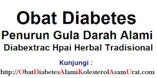 Obat diabetes penurun gula darah alami Diabextrac hpai herbal tradisional