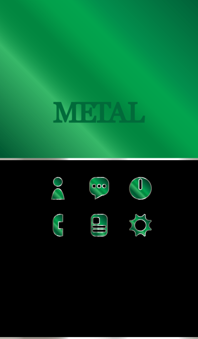 绿色铝金属主题