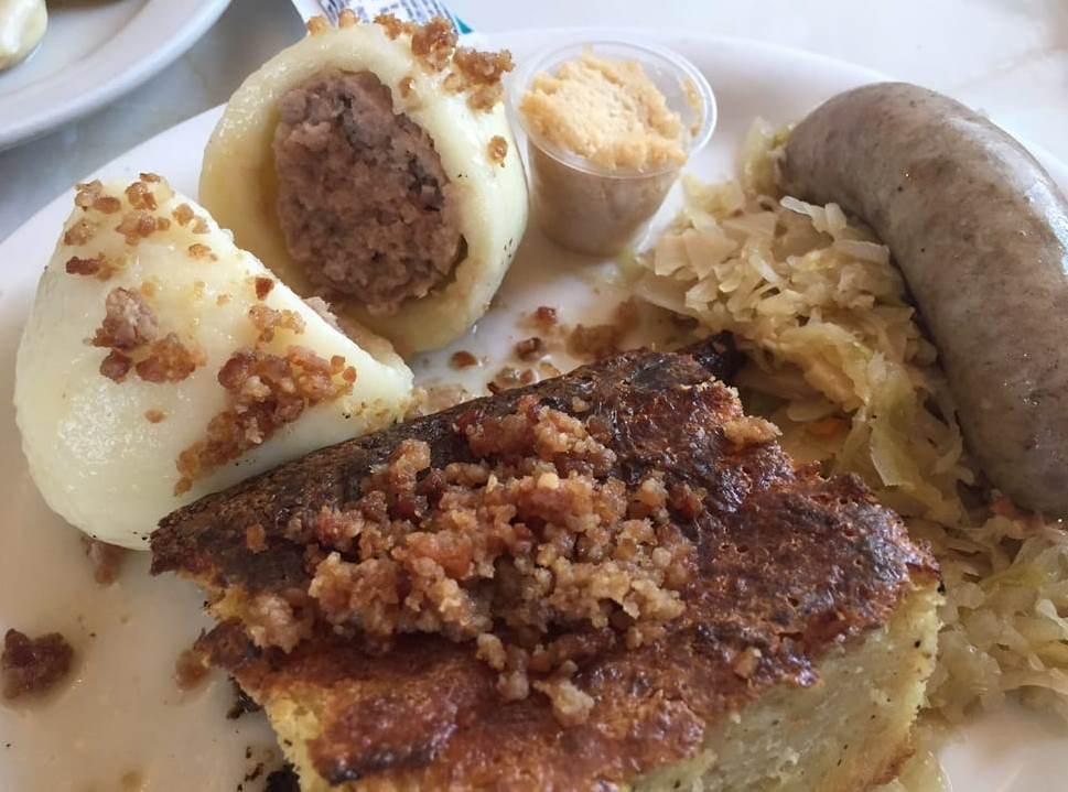 Potato Horseradish Sauerkraut And Hot Dog Bake