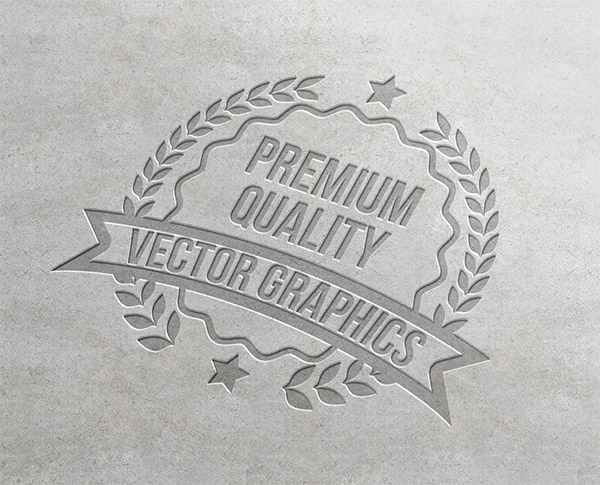 Download Logo Mockup PSD Terbaru Gratis - Letterpress Logo Mockup