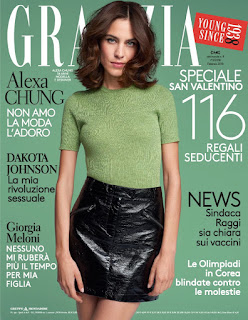 Alexa Chung In Grazia Magazine Italy February 2018