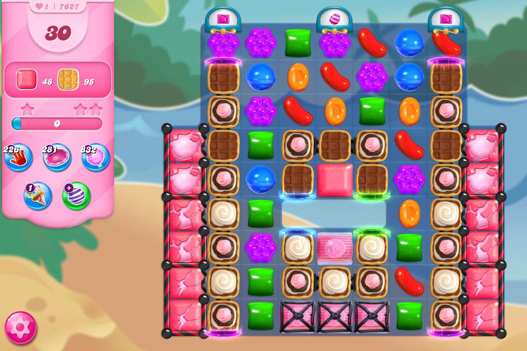 Candy Crush Saga level 7627