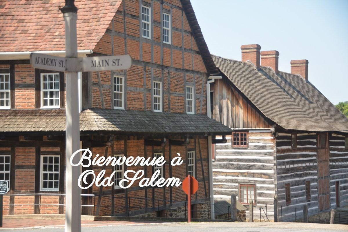 Maisons typiques Old Salem Caroline du Nord