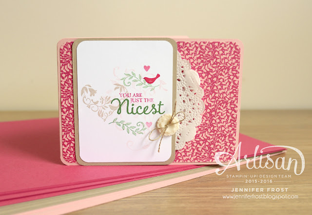 You are just the nicest, First Sight, Picture Perfect, Stampin' Up!, Papercraft by Jennifer Frost, Join my Stampin' Up! team