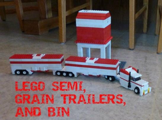 mainan truk gandeng lego